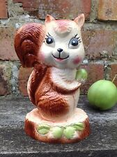 Vintage Kitsch Squirrel Money Box 1960s 60s Ornament Retro Figure Nutkin Animal