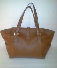 Isaac Mizrahi New York Genuine Leather  Cognac Brown Shoulder Hand Bag ret $295