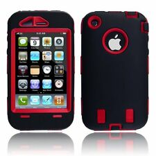 Body Armor for iPhone 3G / 3GS - Black & Red