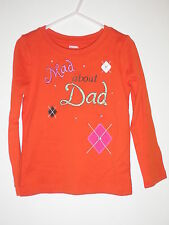 Gymboree Fall Homecoming Mad about Dad Top Shirt Size 4 Girls Clothing