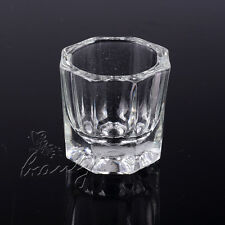 1 Pcs Glass Crystal Cup Dappen Dish Acrylic Nail Art Liquid Powder Container