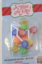 12 MULTICOLOR SUGARED CANDY 1 IN SUCKER ORNAMENTS MINI TREE CHRISTMAS DECORATION