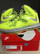 Sz 11 Nike Air Zoom Max LeBron James X 10 Volt Grey Pure Platinum South Beach
