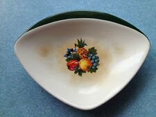 1950's Carlton Ware Dish/Fruit Design/Fab Retro Shape/Badly Foxed