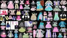 Girls Disney Princess Dress Up Costumes Lot 30 Dresses Dolls Accessories + 4 - 7