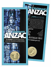 2015 Centenary of ANZAC RAM $1 Coin - 'S' Sydney Counterstamp - Easter Show