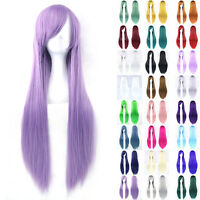 80cm New Fashion Full Wig Long Straight Wig Party Costume Anime Hair Cosplay