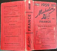 GUIDE MICHELIN ROUGE FRANCE 1959 - BON ÉTAT