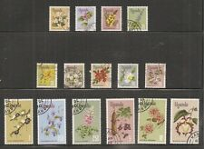 Album Treasures Uganda Scott # 115-129  Flowers of Uganda  VF Used CDS
