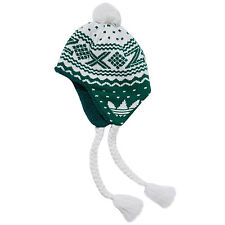 adidas Originals ZX Peruvian Mens Knitted Bobble Pom Pom Beanie Hat - One Size
