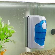 Magnetic Brush Aquarium Fish Tank Glass Algae Scraper Cleaner Floating Curve r
