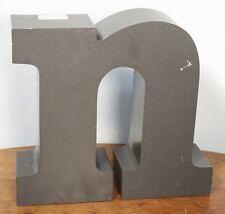 """Large Vintage Letter """"n"""" Sign. Metal Construction Neon. Car Dealer Salvage"""