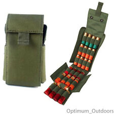 25 Shotgun Cartridge Shell Holder Pouch Bag Case 12 / 20 Gauge Fits Molle Belt