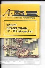 """Brass Chain Aline #29270 - 12"""" 13 Links Per Inch - Ideal For Large Scale Trains"""