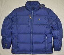 New Large L POLO RALPH LAUREN Mens puffer down winter ski jacket Navy Blue coat