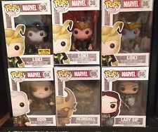 Funko Pop Marvel Loki Asgard 6 Figure Lot