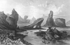 China, BOHEA HILLS BLACK TEA WUYI SHAN MOUNTAINS ~ Old 1842 Art Print Engraving