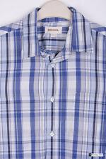 Diesel da uomo manica lunga Vestibilità Regolare Camicia Casual Multi/Blu