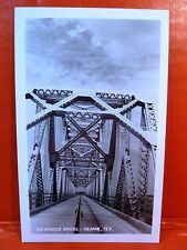Postcard TX Hearne Big Brazos Bridge RPPC Real Photo The Fox Company Photo
