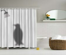 "PENGUIN SHADOW SHOWERING 70"" Fabric Bathroom Shower Curtain"