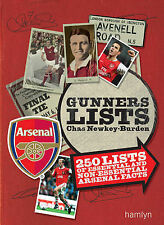 GUNNERS LISTS: 250 LISTS OF ESSENTIAL & NON-ESSENTIAL ARSENAL FACTS NEW RRP £10