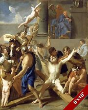 CRUCIFIXION OF APOSTLE ST ANDREW PAINTING CHRISTIAN BIBLE ART REAL CANVAS PRINT