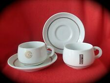 2 VTG CGT FRENCH LINE Cups 2 Saucers GDA Limoges CH Field Haviland