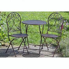 Gartenmöbel Set Tisch 2 Stühle klappbar Eisen Gartengaritur Bistroset