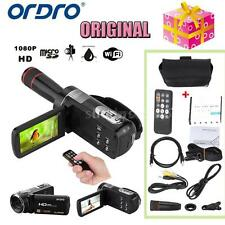 ORDRO 1080P FHD Digital Video Camera Camcorder 16× Zoom Touch Screen 24MP K9X8