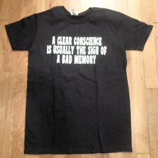 NWT CLEAR CONSCIENCE - SIGN OF BAD MEMORY, Super Soft Cotton, Sz  Small (S-T-87)