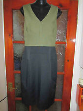 NEW BNWT KAREN MILLEN DT162/A14W Womens Khaki Dress Size UK 16 / EU 44 with tags