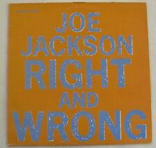 """JOE JACKSON (Maxi 45T 12"""")  RIGHT AND WRONG"""