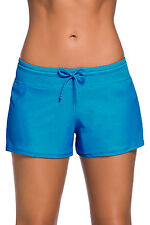Blue Women Swim Board shorts Swimsuit Bottoms Size UK 8-10