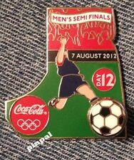 Soccer Olympic Bobble Pin Badge~2012~Coca Cola~Coke~Day 12~Mounted~Card~Sealed