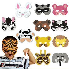 12Pcs Kids Cosplay Halloween Animal Masks Head Zoo Party Dress Costume Prop Toys