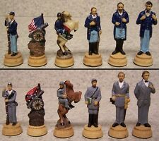 Chess Set Pieces American History Civil War Lincoln & Grant vs Davis & Lee NIB
