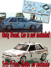 Decal 1:43 Alain Oreille - RENAULT 11 TURBO - Rally El Corte Ingles 1988
