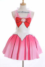 SK-06 Gr. S-M  Sailor Moon Chibimoon rosa Kleid dress Cosplay Manga Japan Anime