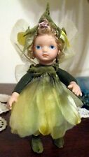 Thai Flower Petals Doll with Fairy / Butterfly Wings - Yellow (New)