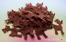 Felt Reindeer. Pack of 10 Christmas Craft Embellishments