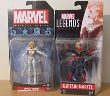"MARVEL Infinite EMMA FROST & CAPITAN MARVEL (Carol Danvers) 3.75"" Figura Bundle"