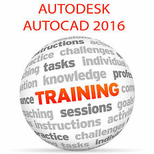 Autodesk AutoCAD 2016-formazione VIDEO TUTORIAL DVD