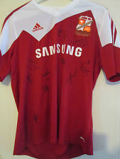 Swindon 2013-14 Squad Signed Home Football Shirt BNWT FLT letter coa /39538