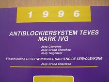 Manuale officina Systemdiagnose ABS Teves Mark IVG Jeep Grand Cherokee 1996