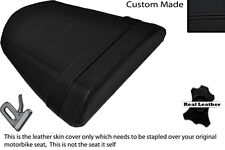 BLACK STITCH CUSTOM FITS RIEJU RS2 125 REAR LEATHER SEAT COVER ONLY
