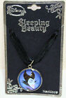 DISNEY MALEFICENT Movie Bubble Cord & Ribbon Pendant Necklace Sleeping Beauty