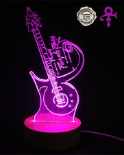 Purple rain ,the guitar of prince LED Lamp with wood base,Prince hand crafts