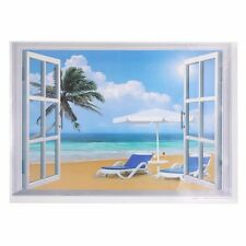 Window Decal Stickers Beach Exotic View Art Wallpaper Home Mural 3D 50*70cm