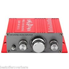 HY-2001 Hi-Fi Mini Digital Motorcycle Car Stereo Power Amplifier Support DVD MP3