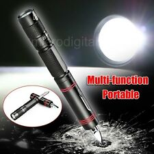 New Portable CREE Q5 LED 1000 Lumens Hiking Camping Pen Flashlight Torch Knife
